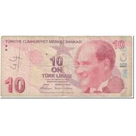 Billet, Turquie, 10 Lira, 2009, Old Date 1970-10-14, KM:223, TB - Turkije