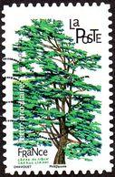 Oblitération Moderne Sur Adhésif De France N° 1607 - Arbres, Cèdre Du Liban - Cedrus Libani - Used Stamps