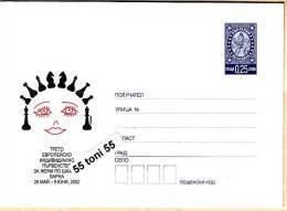 2002 European Women Chess Championship Varna  Postal Stationery Bulgaria / Bulgarie - Ajedrez