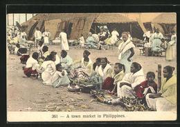 AK Philippinen, A Town Market - Cartes Postales