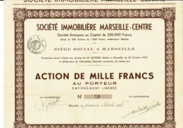 13-IMMOBILIERE MARSEILLE-CENTRE. Tirage De 200 - Hist. Wertpapiere - Nonvaleurs