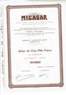 13-MICASAR. 134, Bd Michelet à Marseille - Actions & Titres