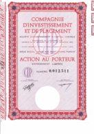 75-INVESTISSEMENT ET DE PLACEMENT. SICAV. Action - Actions & Titres