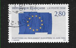 FRANCE 2860 4èmes élections Au Parlement Européen Drapeau Européen - Used Stamps