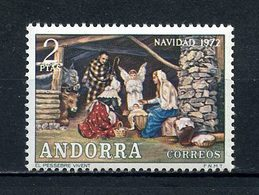 ANDORRE ESP 1972 N° 71 ** Neuf MNH Superbe Noël Christmas La Crèche - Spanish Andorra