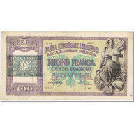 Billet, Albania, 100 Franga, 1945, Undated (1945), KM:14, TTB - Albania