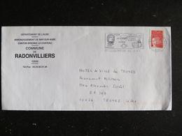 BRIENNE LE CHATEAU - AUBE - FLAMME MUSEE NAPOLEON TRESOR DES EGLISES FOIRE A LA CHOUCROUTE MAIRIE RADONVILLIERS - Marcophilie (Lettres)