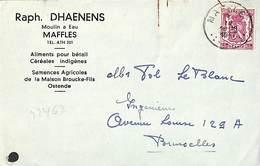 Maffles - Raph. Dhaenens, Moulin à Eau (aliments Pour Bétail, Céréales Indigènes (1947) - Ath