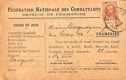 Frameries - Fédération Nationale Des Combattants (1924) - Frameries