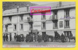 CPA 05 ABRIES En QUEYRAS Hotel De France Départ Des Courriers - Dilligence - Francia