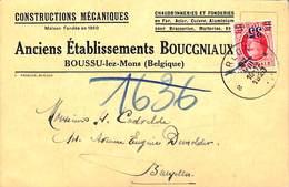 Boussu-lez-Mons - Constructions Mécaniques, Anc. Etab. Boucgniaux (chaudronnerie Fonderie Pour Brasseries 1923) - Boussu