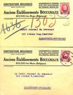 Boussu-lez-Mons - Constructions Mécaniques, Anc. Etab. Boucgniaux (chaudronnerie ...pour Brasseries 1928) 2 Cartes - Boussu