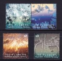 Australian Antarctic 2016 Ice Flowers Set Of 4 CTO - Australian Antarctic Territory (AAT)