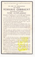 DP Romanie Cobbaert ° Bekegem 1890 † Eernegem 1939 X René Verplancke / Ichtegem - Images Religieuses