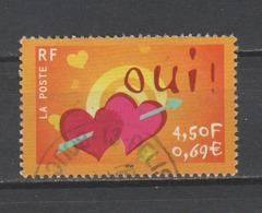 "FRANCE / 2001 / Y&T N° 3380 : ""Oui"" (coeurs & Flèche) - Choisi - Cachet Rond - France"