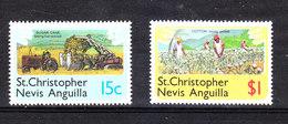 St. Christopher  Nevis Anguilla  - 1978.  Raccolta  Canna Da Zucchero E Cotone.Collection Of Sugar Cane And Cotton. MNH - Agricoltura