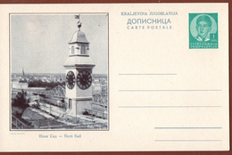 YUGOSLAVIA-SERBIA, NOVI SAD-CLOCK TOWER, 4th EDITION ILLUSTRATED POSTAL CARD - Interi Postali