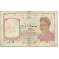 Billet, FRENCH INDO-CHINA, 1 Piastre, 1946, Undated (1946), KM:54c, B - Indochine