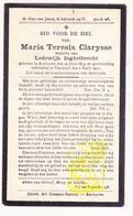 DP Maria Th. Clarysse ° Aartrijke Zedelgem 1855 † Torhout 1930 X Lodewijk Inghelbrecht - Imágenes Religiosas