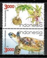 Indonesia 2014 / Turtle Flowers MNH Tortuga Flores Blumen Säugetiere / Cu10909  C5-28 - Schildkröten
