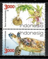 Indonesia 2014 / Turtle Flowers MNH Tortuga Flores Blumen Säugetiere / Cu10909  C5-28 - Turtles