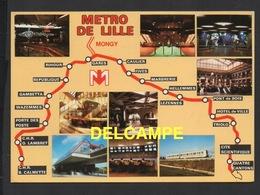 DF / CHEMINS DE FER / MÉTRO DE LILLE : PARCOURS DE LA LIGNE ET MULTIVUES - Metro