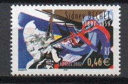 - FRANCE Variété 3487a ** - 0,46 € Sidney Bechet 2002 - BANDES DE PHOSPHORE A CHEVAL - - Abarten Und Kuriositäten