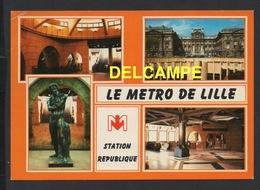 DF / CHEMINS DE FER / MÉTRO DE LILLE : STATION RÉPUBLIQUE -  MULTIVUES - Métro