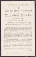 Geluwe, Kuurne, 1918, Charles Soete, Malfait - Devotion Images
