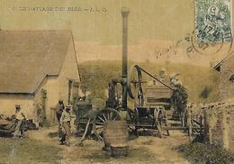 Travaux à La Ferme Scène De Battage Du Blé  Ed JLC LE GUI 1907 - Fermes