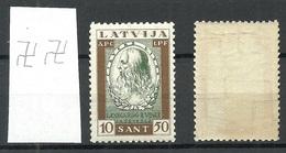 LETTLAND Latvia 1932 Michel 211 A Inverted WM Leonardo Da Vinci MNH - Latvia