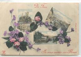 CPA 09 ARIEGE De Foix Je Vous Envoie Ces Fleurs Multivues - Foix