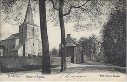 Jandrain.   -   Route Et Eglise.   Prachtige Kaart!    -   1900 Naar   Bruxelles - Orp-Jauche