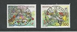 2018 ZNr 1688-1689 OBLITÉRATIONS PLEINES (1903) - Switzerland