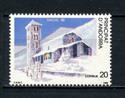 ANDORRE ESP 1988 N° 198 ** Neuf MNH Superbe Noël Christmas Eglise Neige - Neufs