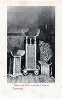 Afrique -  DAHOMEY ABOMEY Carte Rare Sieges Des Rois Sculptures Bois ( Un Angle Abimé ) - Dahomey
