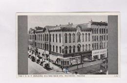 CPA PHOTO RICHMOND, THE I.O.O.F BUILDING. STH AND MAIN STS - Richmond