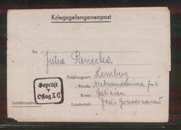 KRIEGSGEFANGENENPOST NAZI GERMANY THIRD REICH WW2 PRISONER WAR POW CAMP OFLAG XC LUBECK TO LEMBERG GG LVIV LVOV UKRAINE - Brieven En Documenten