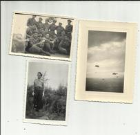 MILITARIA .  CAMP D IDRON . B. E. T. A. P. PHOTO D UN STAGE DE SAUT .  AOUT 1955 ( Dim 8.50 X 6 Cm ) 3 Photos - Uniformes