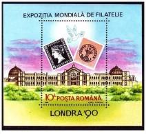 Romania - 1990 - Usato/used - Manifestazione Filatelica Londra - Mi Block 261 - Usati