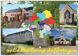 44 - LA MEILLERAYE DE BRETAGNE -  4 Vues + La Carte Du Département De La Loire-Atlantique - Cpm - Vierge - - Francia