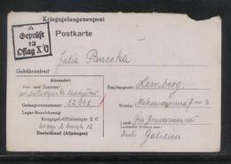 KRIEGSGEFANGENENPOST NAZI GERMANY THIRD REICH WW2 PRISONER WAR POW CAMP OFLAG XC LUBECK TO LEMBERG GG LVIV LVOW UKRAINE - Gevangenkampen