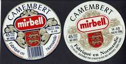 "2 étiqu. Camembert "" MIRBELL "" 45% - Fromage"