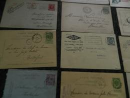 BELGIQUE  LOT DE 20  ANCIENS ENTIERS POSTAUX OU CARTES   TRES VARIES VOIR 4 PHOTOS - Enteros Postales