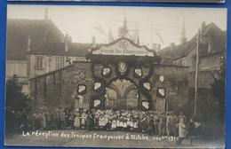 BITCHE    La Réception DesTroupes Française à Bitche Novembre 1918  Animées  Photographe:  K Montag Herrenstrasse 9 - Bitche