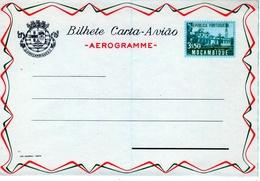 "Portugal Province Mozambique 1955 ""Radio"", ""Tea"" Aerogramme, Air Letter. H&G F16 MINT II - Mozambique"