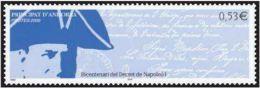 "Andorre YT 625 "" Decret De Napoléon 1er "" 2006 Neuf** - Nuevos"