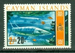 Cayman Islands: 1969   QE II - Decimal Currency Surcharge   SG249   20c On 2/-   MH - Iles Caïmans