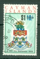 Cayman Islands: 1969   QE II - Decimal Currency Surcharge   SG251   $1 On 10/-   Used - Iles Caïmans