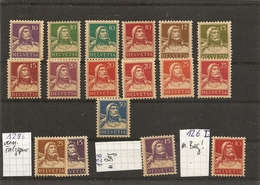 Schweiz,  1914 Serie Tellen **, 4 Marken Minderwertig, Siehe Scan! - Switzerland